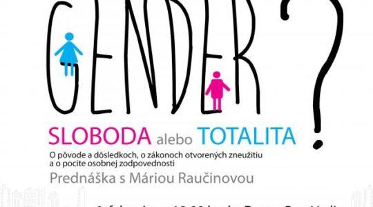 Gender - sloboda, alebo totalita?