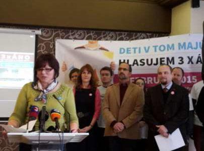 Kampaň pred referendom o ochrane rodiny vrcholí, v sobotu bude Európa počúvať Slovensko