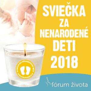 Štartuje kampaň Sviečka za nenarodené deti 2018