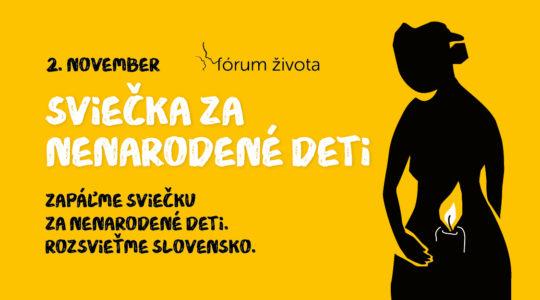 Rozsvieťme spolu Slovensko Sviečkou za nenarodené deti