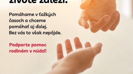 Podporte pomoc rodinám v núdzi