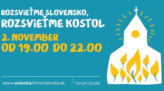 Pilotný ročník akcie Rozsvieťme Slovensko, rozsvieťme kostol
